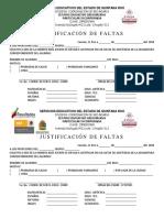 FORMATO DE JUSTIFICACION DE FALTAS