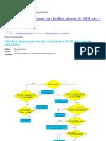 IMP0025 Cálculo Do Sistema Para Localizar Alíquota de ICMS Para Entrada IMPORTANTE ICMS PERCENTUAL