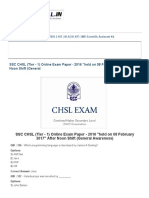 SSC CHSL (Tier - 1) Online Exam Paper - 2016 _held on 08 February 2017_ After Noon Shift (General _ SSC PORTAL _ SSC CGL, CHSL, Exams Community