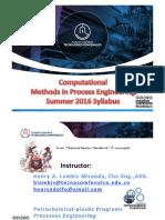 0 Unit 2016 Syllabus. Metodos numéricos. Syllabus del curso.SCILAB,EXCEL-VBA
