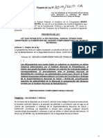 Proyecto de ley Nº  2015/2017-CR