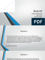 Rule VII Rev