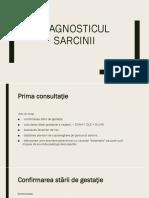 DIAGNOSTICUL SARCINII