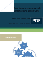 Comparison of Cryotherapy Session Intervals in the Treatment