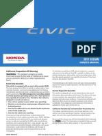 2017 Civic Sedan Owners Manual
