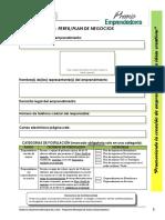 F2 - Formulario Perfil o Plan de Negocio 2015