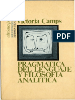 Victoria Camps - Pragmática Del Lenguaje y Filosofía Analítica (Filosofía Del Lenguaje)