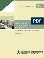 Fao Food Additive Specifications Compendium