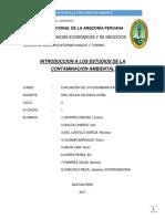 ESTUDIOS DE CONTAMINACIÓN AMBIENTAL