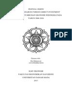 Analisis Pengaruh Foreign Direct Investment Terhadap Pertumbuhan Ekonomi Indonesia Pada Tahun 2011