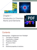 Chapter 1 Introduction to Chemistry, Atoms and Elements