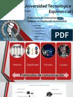 Protocolos de Comunicación y Sistema Multiplexado Automotriz
