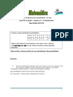 Ficha Módulo A7 Curso Cont 12º Ano Distribuição de Probabilidades