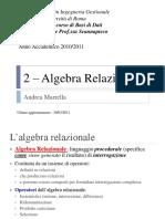 ES2 Algebra Relazionale