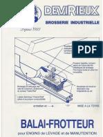 Balais Frotteurs Pour Pont Roulant