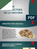 Tipos de Arquitectura en La Historia