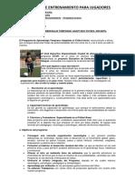 Programa Aprendisaje Temprano Adaptado Futbol Iinfantil y Juvenil 2018