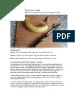 Cómo Hacer Té de Banana Con Canela