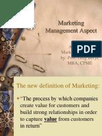 Marketing Aspect