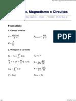 Eletricidade, Magnetismo e Circuitos - Formulário
