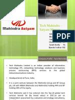 Merger of Mahindra Satyam