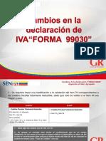 Material Informativo IVA Forma 99030