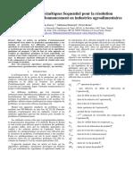 Algorithmes Genetiques Sequentiels Pour La Resolution de Problemes Dordonnancement en Industries Agroalimentaires