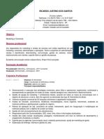 Currículo Ricardo Justino Português