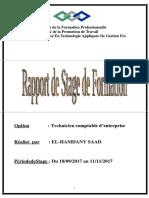Rapporte de Stage Sur Cabinet Comptable El Bouzaidi Naima