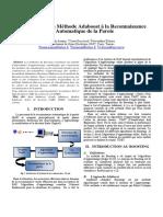 Application de La Methode Adaboost a La Reconnaissance Automatique de La Parole