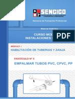 03 Empalmar Tubos Pvc, Cpvc, Pp
