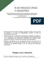 Gestion de Riesgos Crisis y Desastres