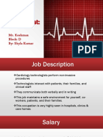 cardiology technologist career project grade 11