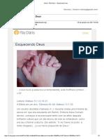 Gmail - Pão Diário -- Esquecendo Deus