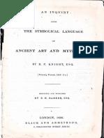 an Inquiry Into the Symbolic Language 1836 Knight