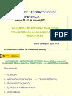 20 Validacion de Tecnicas Analiticas. Transferencia a Los Laboratorios Regionales