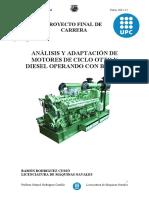 Análisis y Adaptación de Motores de Ciclo Otto y Diesel Operando Con Biogas