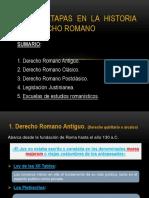 Tema III. Etapas en La Historia Del Derecho Romano