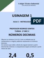 Aula 5 Usinagem - Metrologia