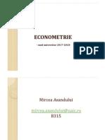 Curs1. Econometrie Introducere 2017 Ma