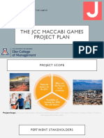 The JCC Maccabi Games - Project Plan