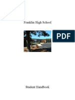 Franklin High School Student Handbook 2010-11