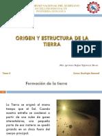 Clase 2 Origen de La Tierra, Estructura Interna de La Tierra