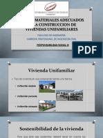 Uso de materiales adecuados para la construcción de viviendas Unifamiliares