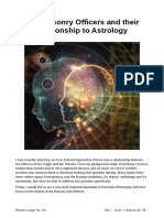 Freemasonry and Relationship to Astrology