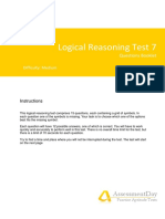 LogicalReasoningTest7 Questions
