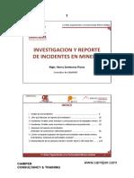 investigacion y reporte de acccidentes en mineria