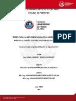 Mendo Arnold Bases Implementacion Norma Peruana Edificios