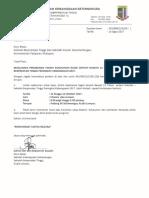 Makluman Perubahan Tarikh Kejohanan (SBT & SKK
