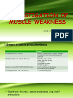 Investigation of Muscle Weakness
